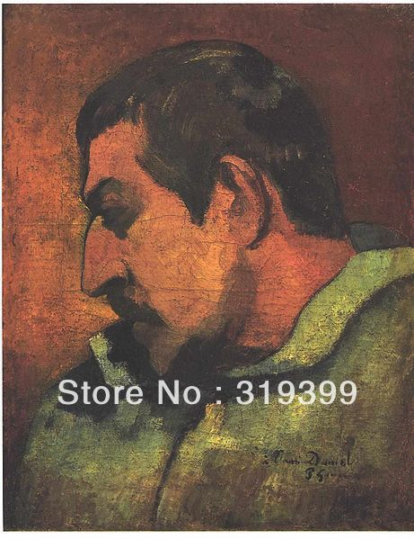 paul gauguin Oil Painting Reproduction on Linen canvas, dedicated to his friend Danie,100%handmade,Free Ship,high Quality