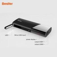 Besiter 10000 mah Externes Ladegerät für Handys Energienbank Portable Dual USB Port Power Charger mit LCD für Geschenk