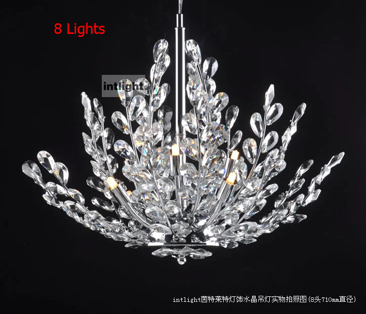 Mm Modern K Crystal Chandelier Tree Leaf Crystal Lampshade - Chandelier leaves crystals