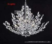 700mm Modern K9 Crystal Chandelier Tree leaf Crystal Lampshade Ceiling Chandeliers Home Decoration Luminarias 110 240V Shocker