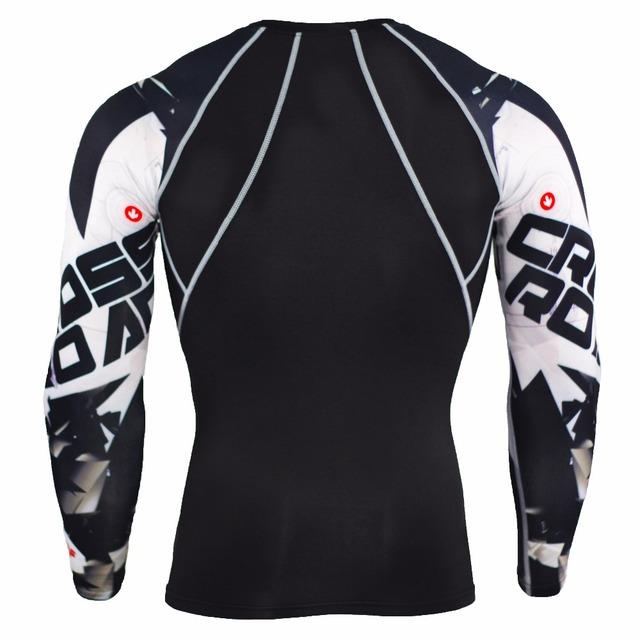 Wolf 3D Printed tshirt Compression Tights Men Fitness Running Shirt Breathable Long Sleeve Sport Rashgard Gym Cycling Clothing