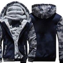 Hoodies Casual fleece style Hooded Coat men Thick Zipper 2019 new Winter Warm Jacket male harajuku streetwear Sweatshirt M-4XL
