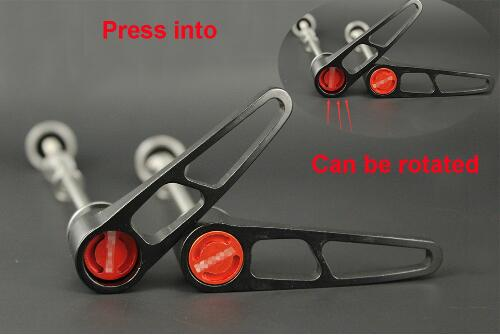 1 Pair Bike Quick Release Titanium Axle Skewer QR for road Bicycle MTB Hub 80g pair Front 100mmX5mm and Rear 135mmX5mm in Skewers from Sports Entertainment