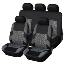 AnShun Embroidery Car Seat Cover Set Universal Fit Most Cars Covers with Tire Track Detail Styling Protector