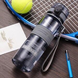 Image 4 - בקבוקי מים 500/1000ml BPA משלוח אכר חיצוני ספורט סיור לשתות בקבוק נייד Leakproof Ecofriendly פלסטיק פירות תה בקבוק