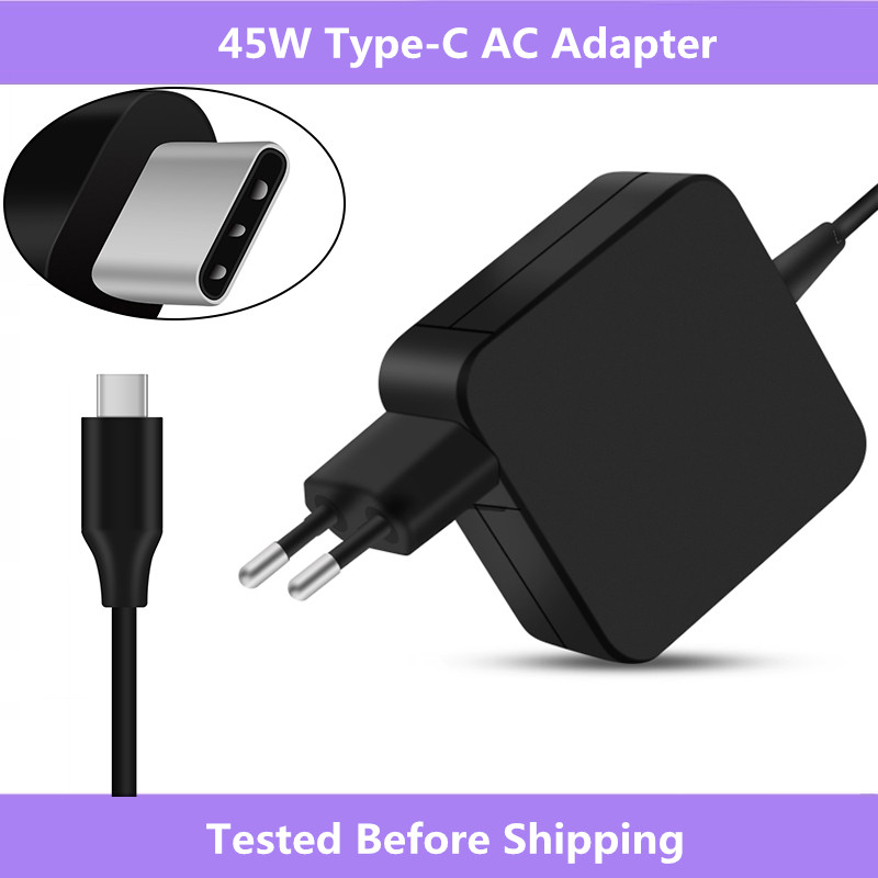 For Asus ZenBook 3 UX390/For HP Spectre x360/For Lenovo ThinkPad  X1/For Macbook 45W USB Type C AC Adapter Charger Power SupplyLaptop  Adapter
