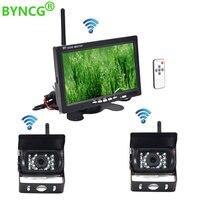 Wireless Reverse Reversing Camera & IR Night Vision 7 Car Monitor for Truck Bus Caravan RV Van Trailer Rear View Camera