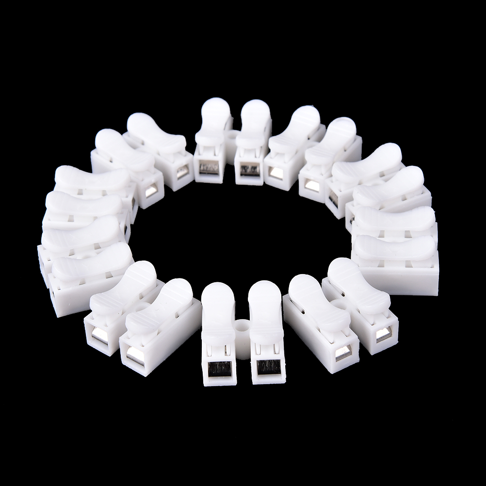 50pcs/lot Plastic Push Type Wire Connector 2p 3p Butt Joint Terminal Blocks Universal Connector For Led Lamps High Quality Invigorating Blood Circulation And Stopping Pains