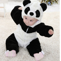 Baby rompers panda new born baby Jumpsuit roupa de baby boys girls clothes bebe recem nascido safe to bite for 0 5 year infant