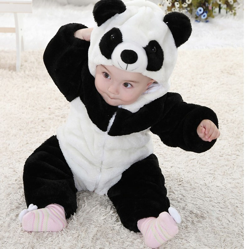 Baby rompers panda new born baby Jumpsuit roupa de baby boys girls clothes bebe recem nascido safe to bite for 0-5 year infant 2016 bebe rompers ropa pink minnie hoodies newborn long romper baby girl clothing roupa infantil jumpsuit recem nascido