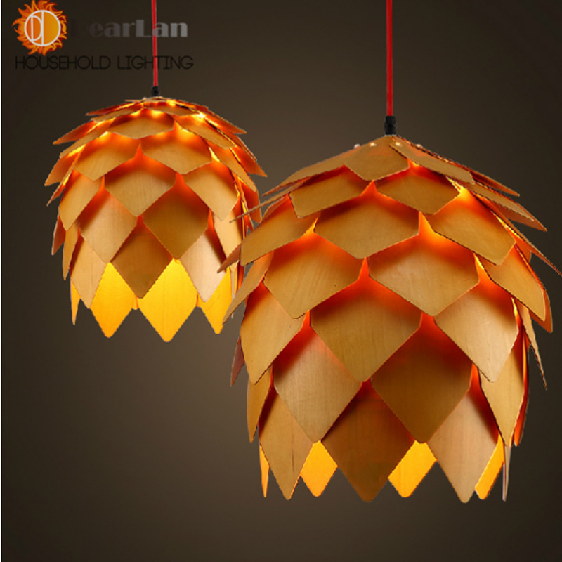 Aliexpress.com : Buy Modern Wooden Art Pendant Light E27 ...