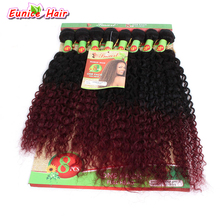 """8pcs/lot 16"""" 16"""" 16"""" 18"""" 18"""" 18"""" 20"""" 20"""" Unprocessed Long Curly Hair Bundles Ombre Burgundy Brazilian Jerry Curl Hairsty"""