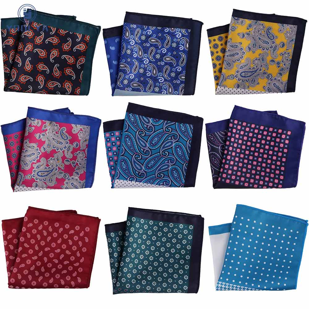 Newest Fashion Pocket Square Handkerchief Dot Paisley Floral Plaid Stripes Soft Style Hanky Mens Suit Chest Towel Accessories