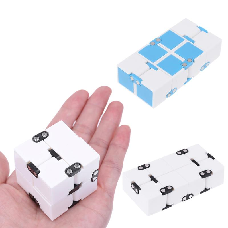 ttnight Funny Infinity Fidget Cube Anti Stress Magic Finger Single Hand Spinners Door Game Toy Concentration Increasing Toy Gift infinity cube mini fidget toy finger edc anxiety stress relief magic cube blocks children kids funny toys best birthday gift