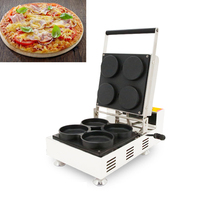 Free shipping Mini Pizza Making Machine Pizza 4pcs Waffle Baking Maker/Party Snack Baker Machine/Pizza cookie making machine