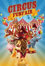 Laeacco Cartoon Cruise Circus Funfair Baby Party Photographic Backdrops Customized Photography Background For Photo Studio