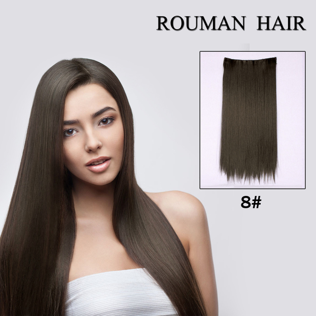 Hot Fashion Straight Hair Clip In On Hair Extensions 26 Inch 66cm