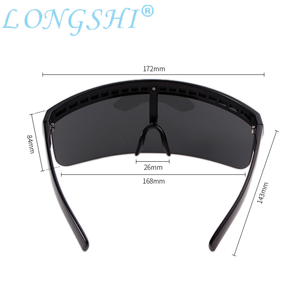 Style 2018 Plus Oversize Shield Visor Mask Sunglasses Men Women Peice Windproof Glasses Flat Top Hood Eyeglasses Driver Goggles in Driver Goggles from Automobiles Motorcycles
