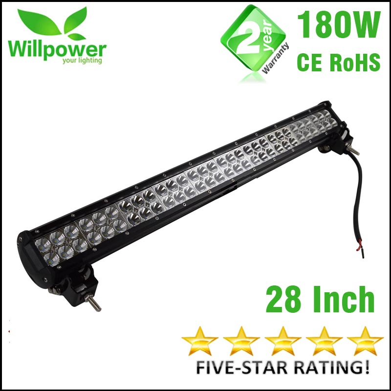 off road LED driving light bar 4x4 Offroad 14400-18000LMs high power 180W 28 Inch car Led Light Bar wholesale 4pcs 180w combo driving high power off road atv utv 4x4 high power vehicles racing led light bar