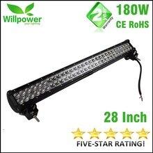 LED off road дальнего света бар 4×4 Внедорожный 14400-18000LMs высокой мощности 180 Вт 28 Дюймов автомобильные Светодиодные бар