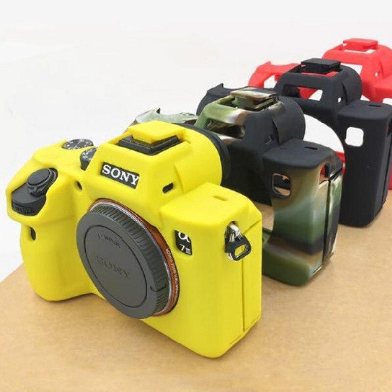 все цены на Nice Soft Camera Video Bag Silicone Case Rubber Camera case Protective Body Cover Skin For Sony A7 III A7R3 A7 mark 3 A7 III онлайн