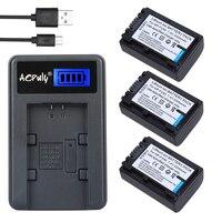 Aopuly np-fv50 np fv50 batterie + usb-ladegerät für sony hdr XR550E XR350E CX550E CX350E CX150E DCR SR68E SX83E SX63E SX43E CX230