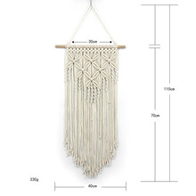 New cotton rope woven tapestry butterfly pattern wall decoration Bohemian handmade home wedding pendant boho