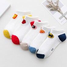 5 пар/лот детские носки хлопковые носки для мальчиков и девочек, модный дышащий сетчатый носки сезон: весна–лето высокое качество От 1 до 12 лет, детские подарки на день рождения
