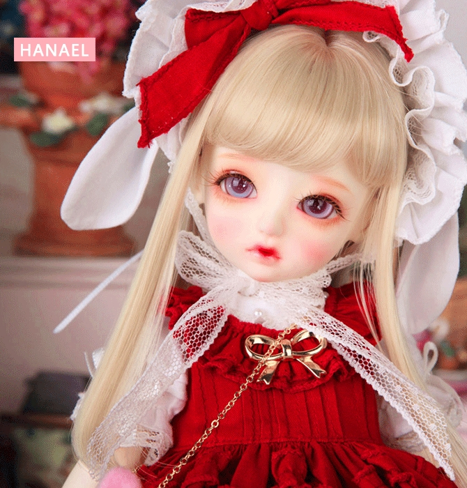 Full Set Free makeup&eyes included!TOP quality 1/6 bjd Honey Hanael baby doll best gifts cute girl wig dress shoes red toy 1 6 scale bjd lovely kid sweet baby cute nana resin figure doll diy model toys not included clothes shoes wig