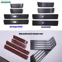 For Mercedes Benz ML GLE W166 GLE-Class Coupe C292 Car-Styling Door Sill Scuff Plate Welcome Pedal Trim Cover car Accessories 4pcs door sill scuff plate step protector guard trim cover for mercedes benz gle class coupe c292 320 350d 400 450 car styling