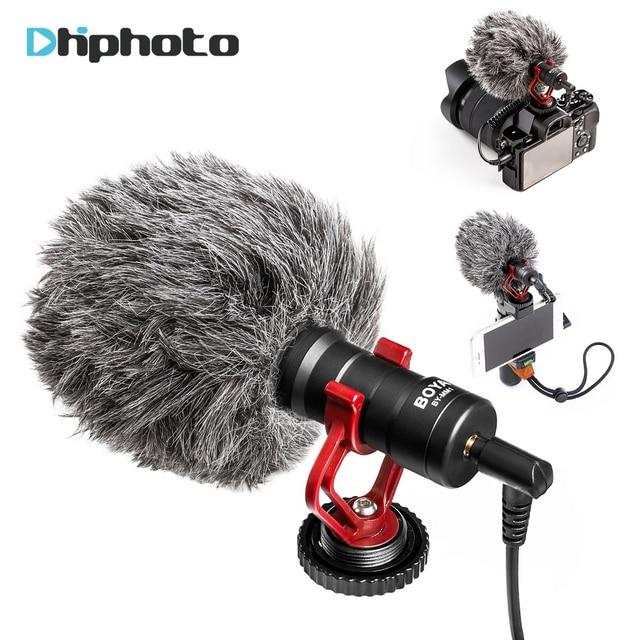 BOYA by-mm1 компактный на Камера микрофон видео YouTube vlogging Запись микрофоном для iPhone Nikon Canon DSLR гладкой Q Feiyu карданный