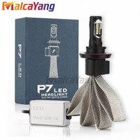 P7 H1 H3 H7 H11 9005 9006 880 Led Headlight kits 60W 6500K 9600LM Fan less Copper Belt Heat Sink H7 Car Bulbs