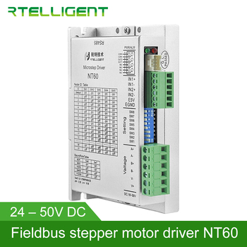 Rtelligent 2 3 phase Nema 23 24 NT60 RS485 Stepper Motor Driver via RS485 Network Modbus for Open Loop and Closed Loop Motor