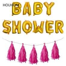 цена Baby Shower 16inch Oh Baby Letter Balloon It's Boy Girl Gender Reveal Gold Wild One Baby Shower 1st 2nd Birthday Party Supplies онлайн в 2017 году