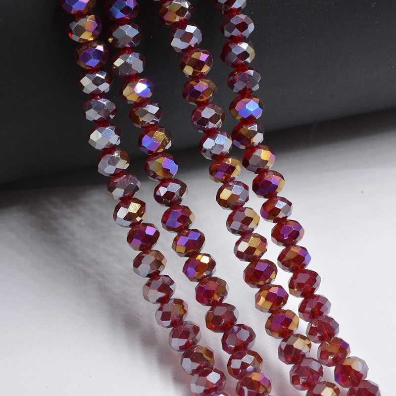 AB 3*4mm Crystal Glass Round Beads Cristal Faceted Beautiful Transparent Strand Beads Diy Components for Needlework
