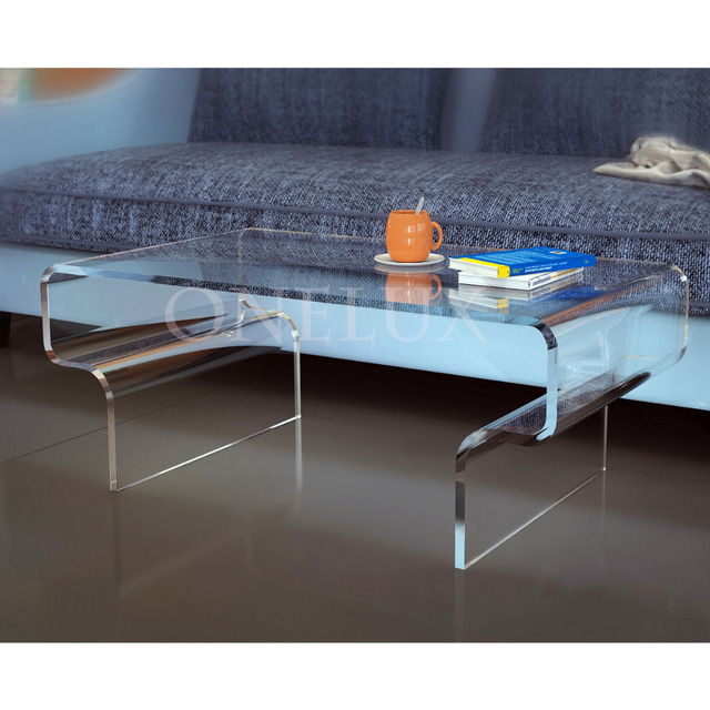 High Transparency Acrylic Coffee Tea Table,Lucite Occasional Living Room  Tables ONELUX