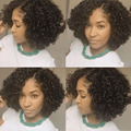 Glueless Full Lace Human Hair Short Wigs Brazilian Human Hair Short Curly Wigs For Black Women Glueless Lace Front Wigs On Sale