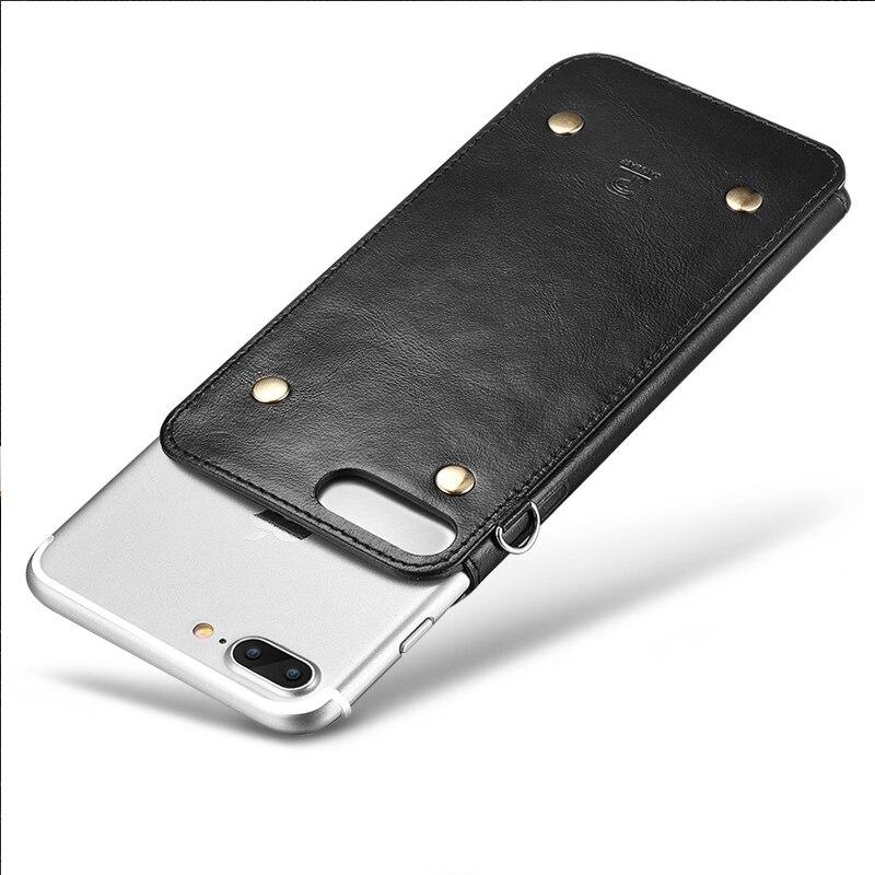 Бизнес дел кобура для iPhone 6 6S 7 Plus мобильный телефон оболочки кожаный для IPhone 6S плюс кожа тонкая новые шнурки