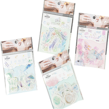 20packs/lot Ext Series Creative Fresh And Paper Sticker Pack Four Selections Cute Fresh Little Sticker mind readings – introductory selections on cognitive science paper only