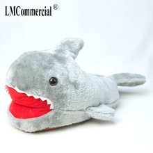shark fur slippers timber land shoes Winter new cute cartoon women thickened warm indoor house adult girl ahoes
