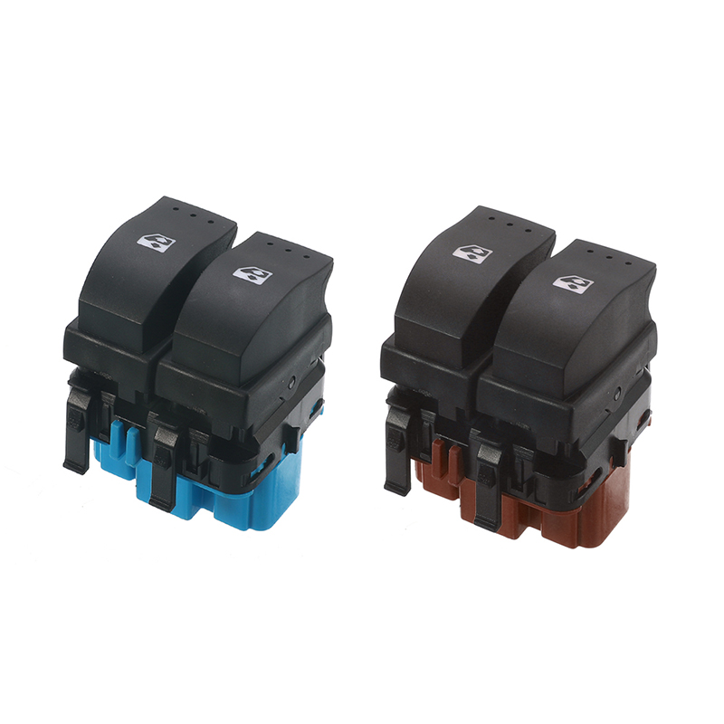 Self-Conscious Blue/brown 10 Pins Electric Window Control Switch Lifter Switches For Renault Megane Ii 2002-2014 Laguna Mk2 2001-2007