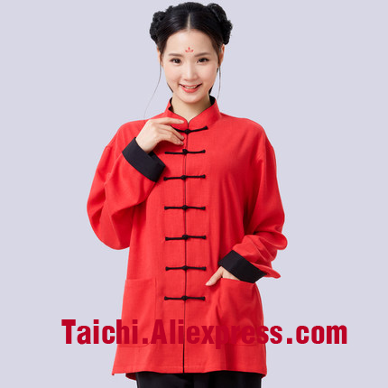 Anti-Wrinkle Flax Tai Chi Uniform Women And Men Taiji Boxing Performance Clothing Linen Kung Fu  Suit  Wing Chun Uniform
