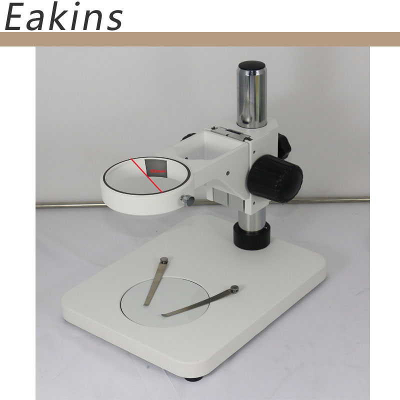 85MM Diameter stereo microscope stand for trinocular /binocular binocular trinocular continuous zoom stereo microscope pillar big flat base stand