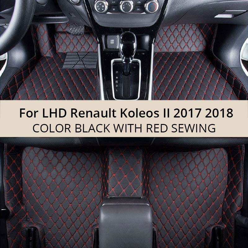 For LHD Renault Koleos II 2018 2017 Car Floor Mats Custom Rugs Auto Interior PU Leather Foot Mat Pads Accessories Car-stylingFor LHD Renault Koleos II 2018 2017 Car Floor Mats Custom Rugs Auto Interior PU Leather Foot Mat Pads Accessories Car-styling