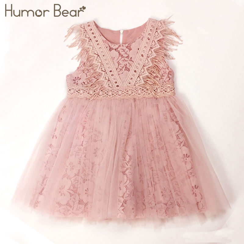 Humor Bear Girls Dresses 2018 Summer Style Girls Clothes lucky child Sleeveless Lace Design for Child kids Baby Dress humor bear girls dresses brand autumn