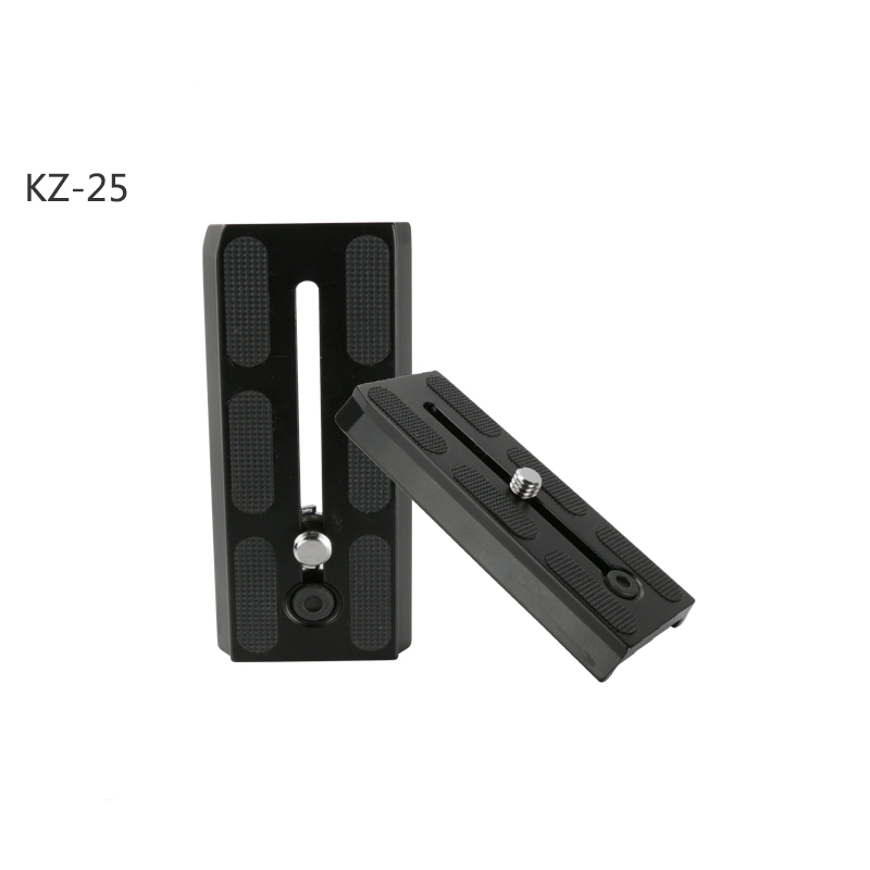 125 mm Length Aluminum Camera Quick Release Plate with 3/8 D ring Camera Screw for Benro KH25