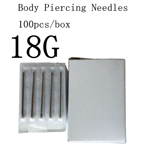 YILONG 100PC 18G Piercing Needles 18G Sterile Disposable Body Piercing Needles 18G For Ear Nose Navel Nipple Free Shipping