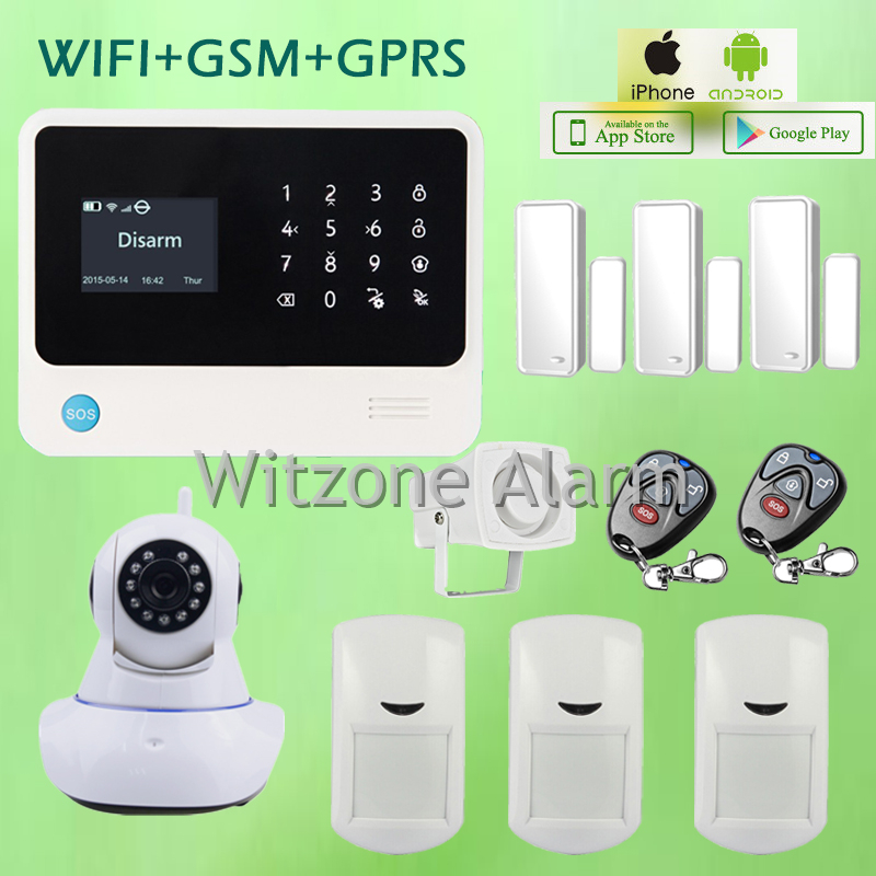 wifi alarm system android ios remote controlled touchscreen keypad lcd display with compatible wifi ip camera surveillance new wifi dmx controller controlled by android or ios system wifi multi point controller wf310 free shipping
