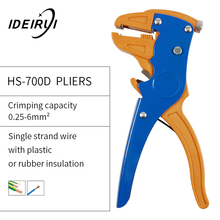 High Quality HS-700D Self-adjusting Insulation Wire Stripper Cutter Hand Crimping Tool for Camping Climbing Outdoor Home