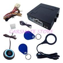 Умный Автомобиль RFID Сигнализация с Двигателя Start Stop Кнопка кнопки и 2 Транспондера Иммобилайзера для Всех DC 12 В Автомобили Carsmate